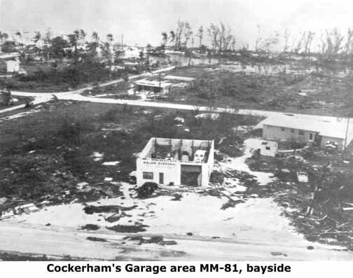 Cockerham Garage after Hurricane Donna in 1960