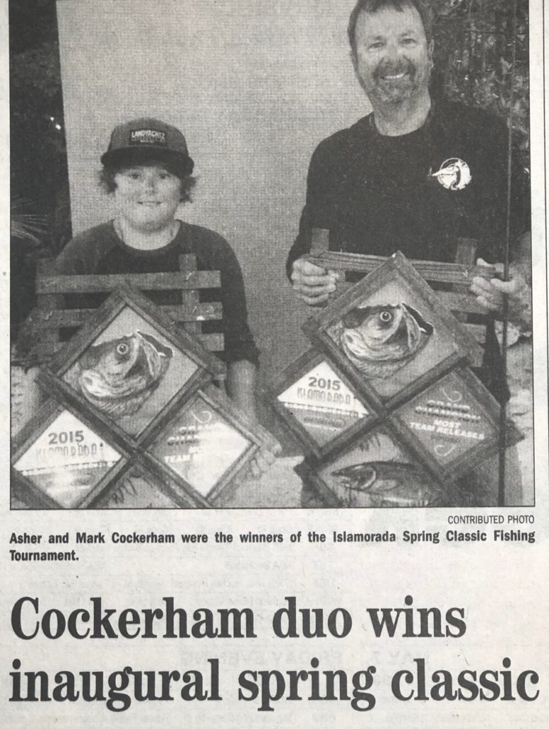 Mark Cockerham and his son Asher - Islamorada Spring Classic Fishing Tournament