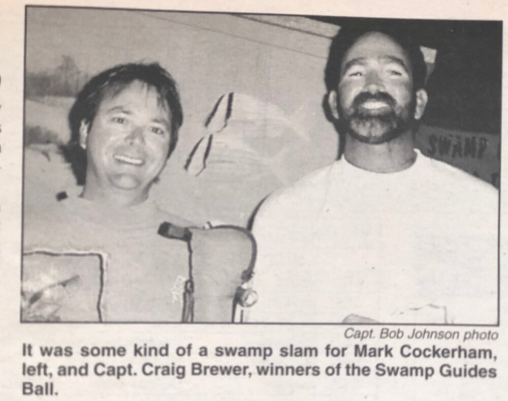 Mark Cockerham and Craig Brewer Swamp Guides Ball winners