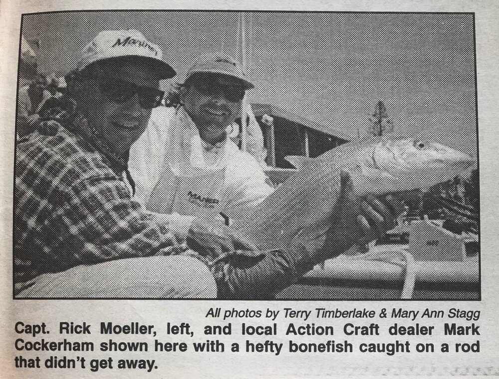 World Record Mark Cockerham and Rick Moeller with Huge Bonefish